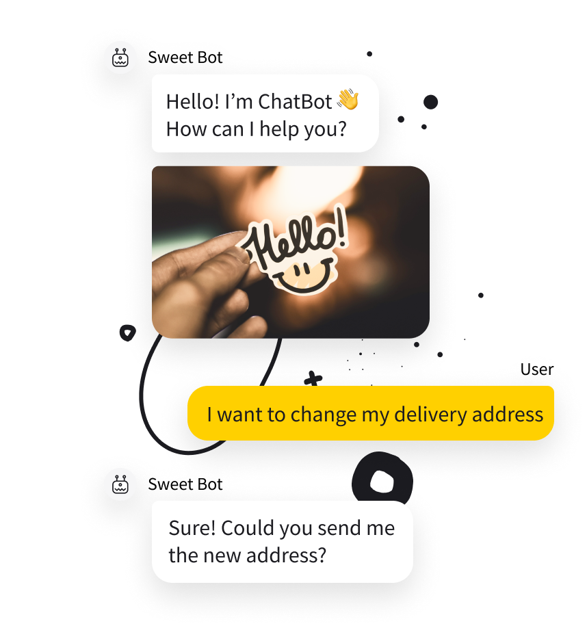 Dynamic and interactive responses for better user experience in chat bot