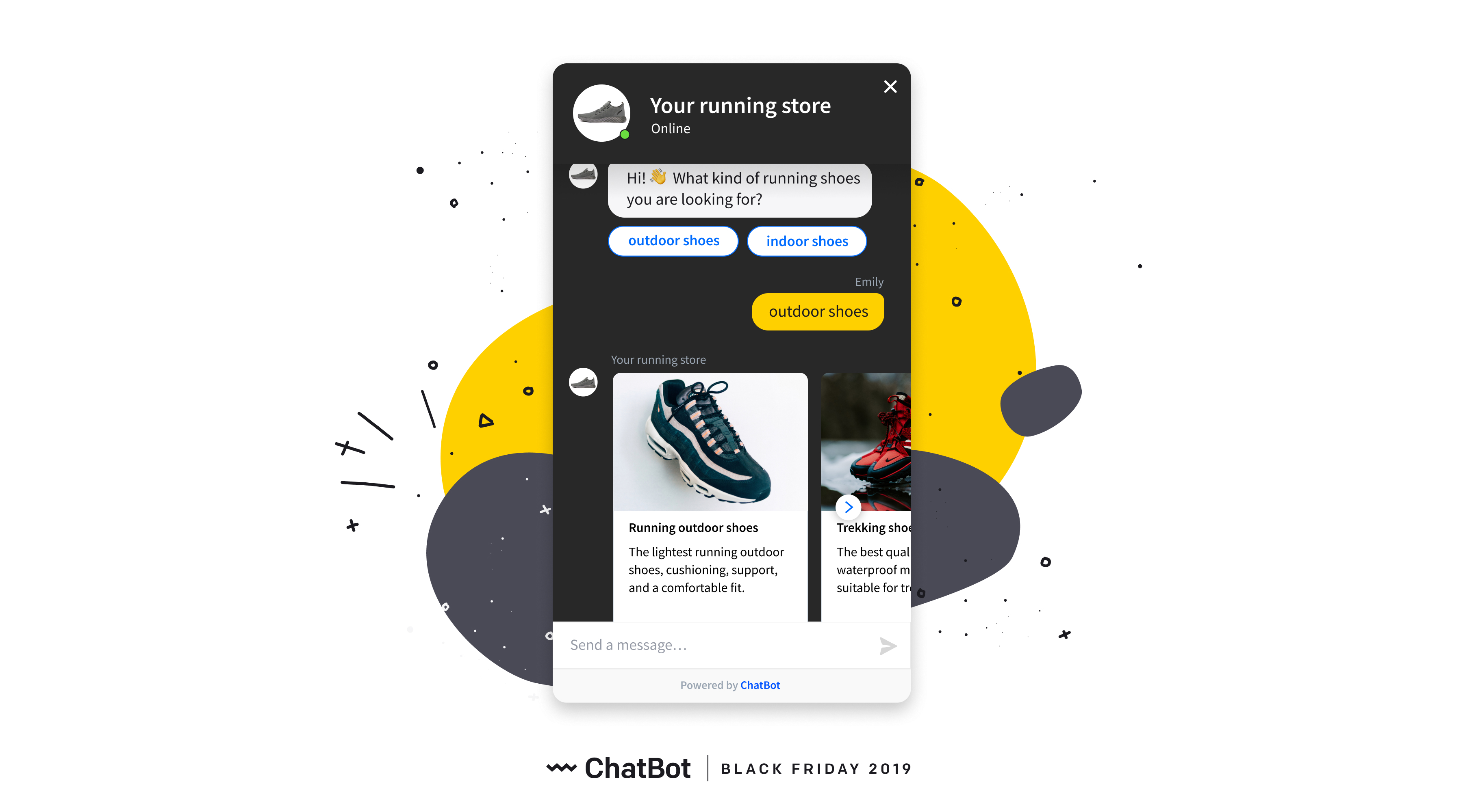Black Friday - Boost customer engagement using a chat bot