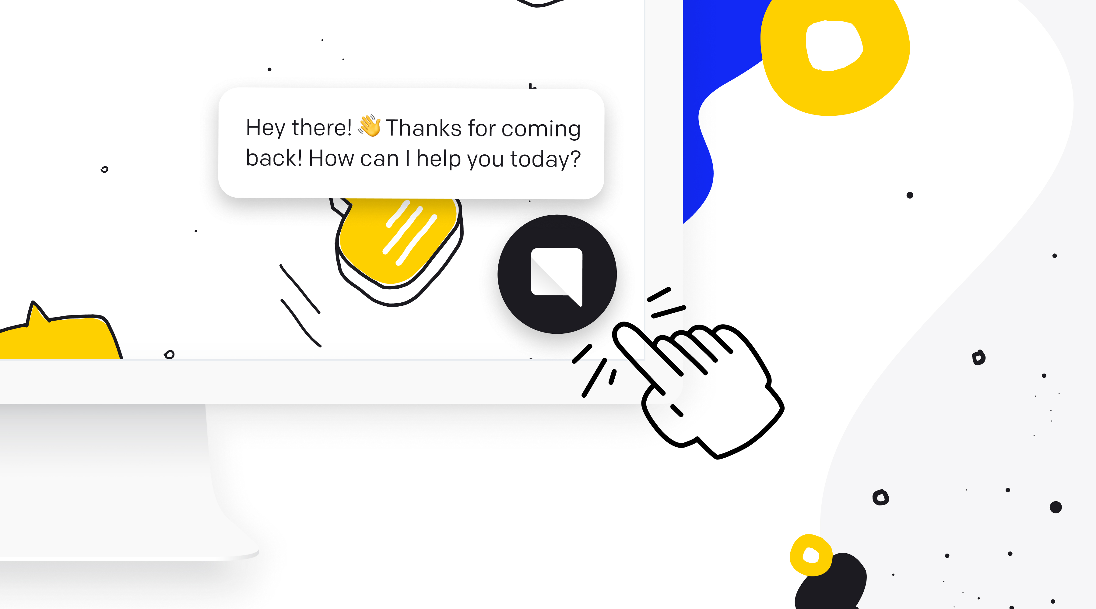 chat bot customized greeting