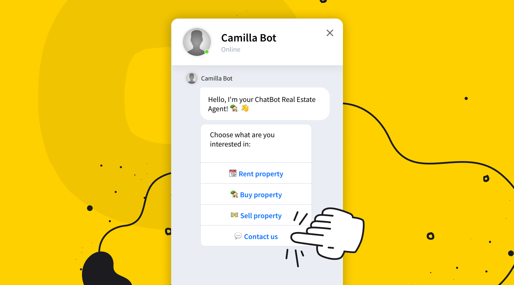 Engage prospects using a real estate chatbot