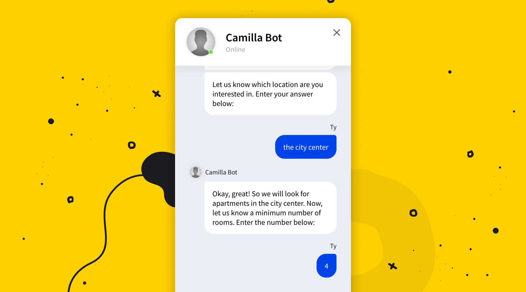 A real estate chatbot