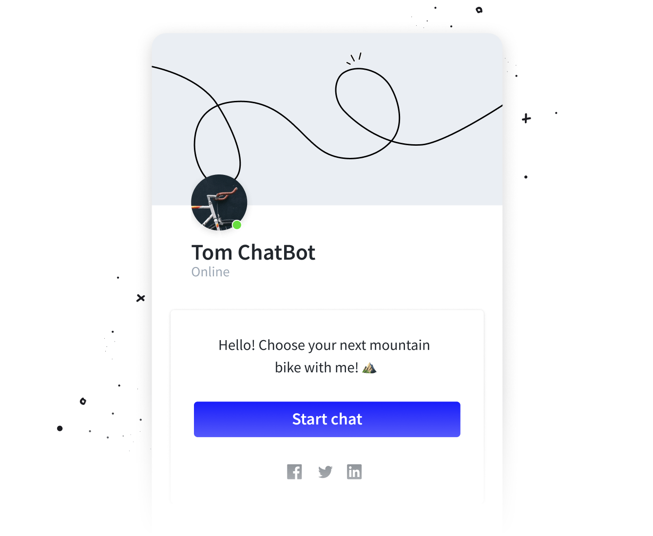 Chat widget  welcome screen