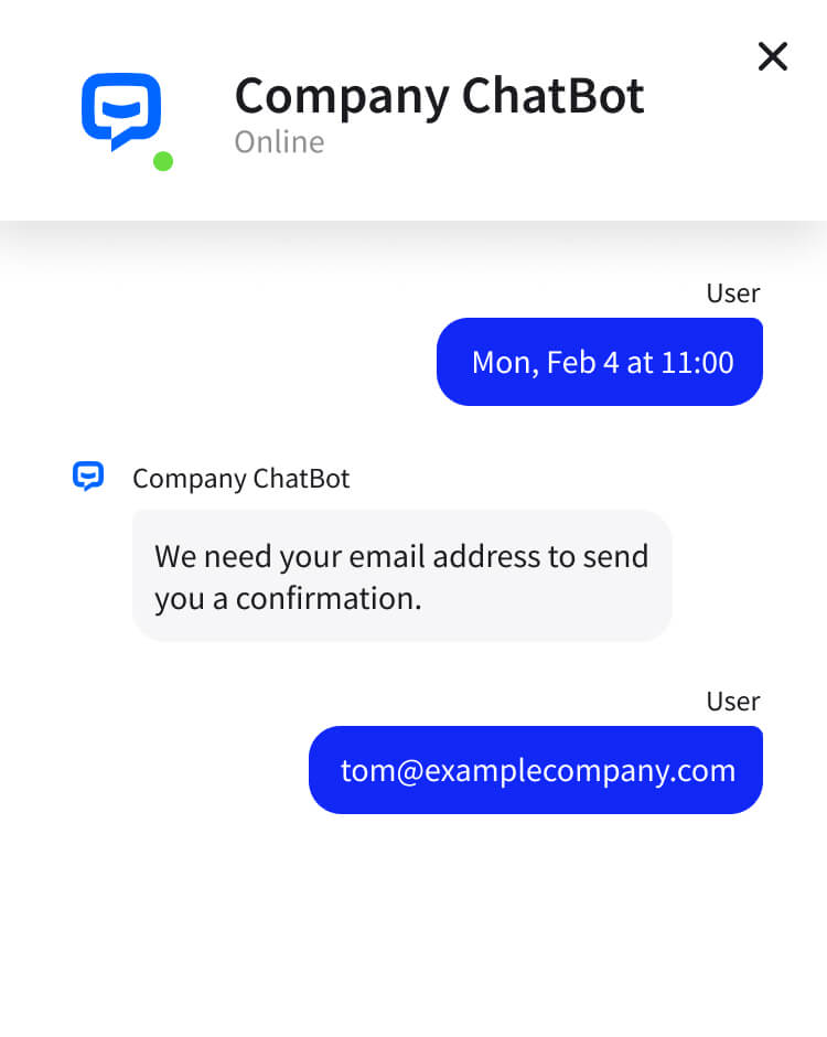 Convert leads with AI chat bot